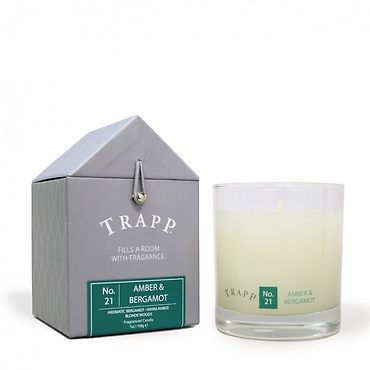 Trapp 7 oz. Large Poured Candle - No. 21 Amber & Bergamot